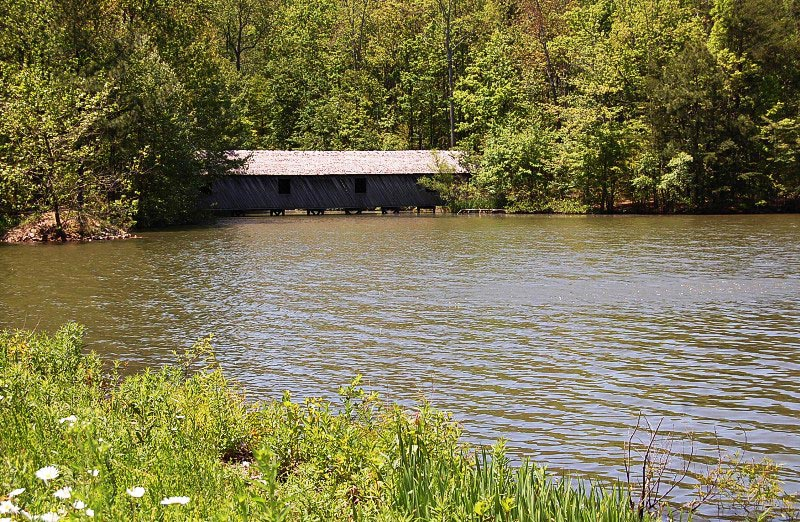 The Covered Bridge on the Nature Trail